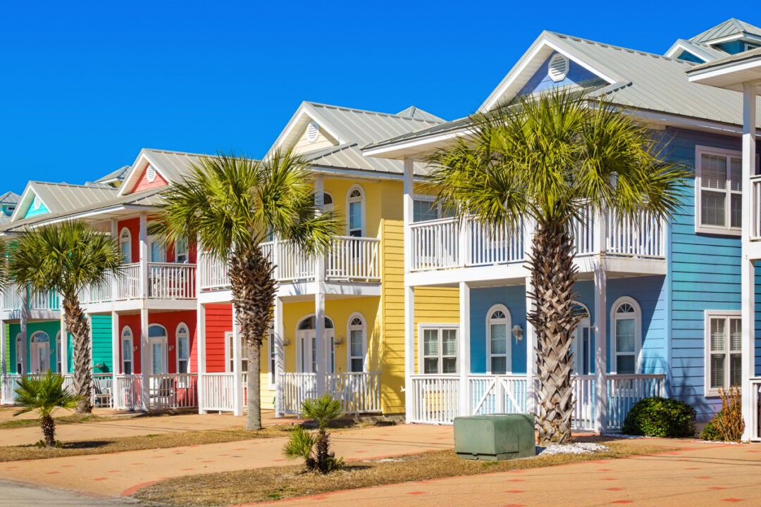 Colorful, tropical vacation homes that need vacation rental home insurance.