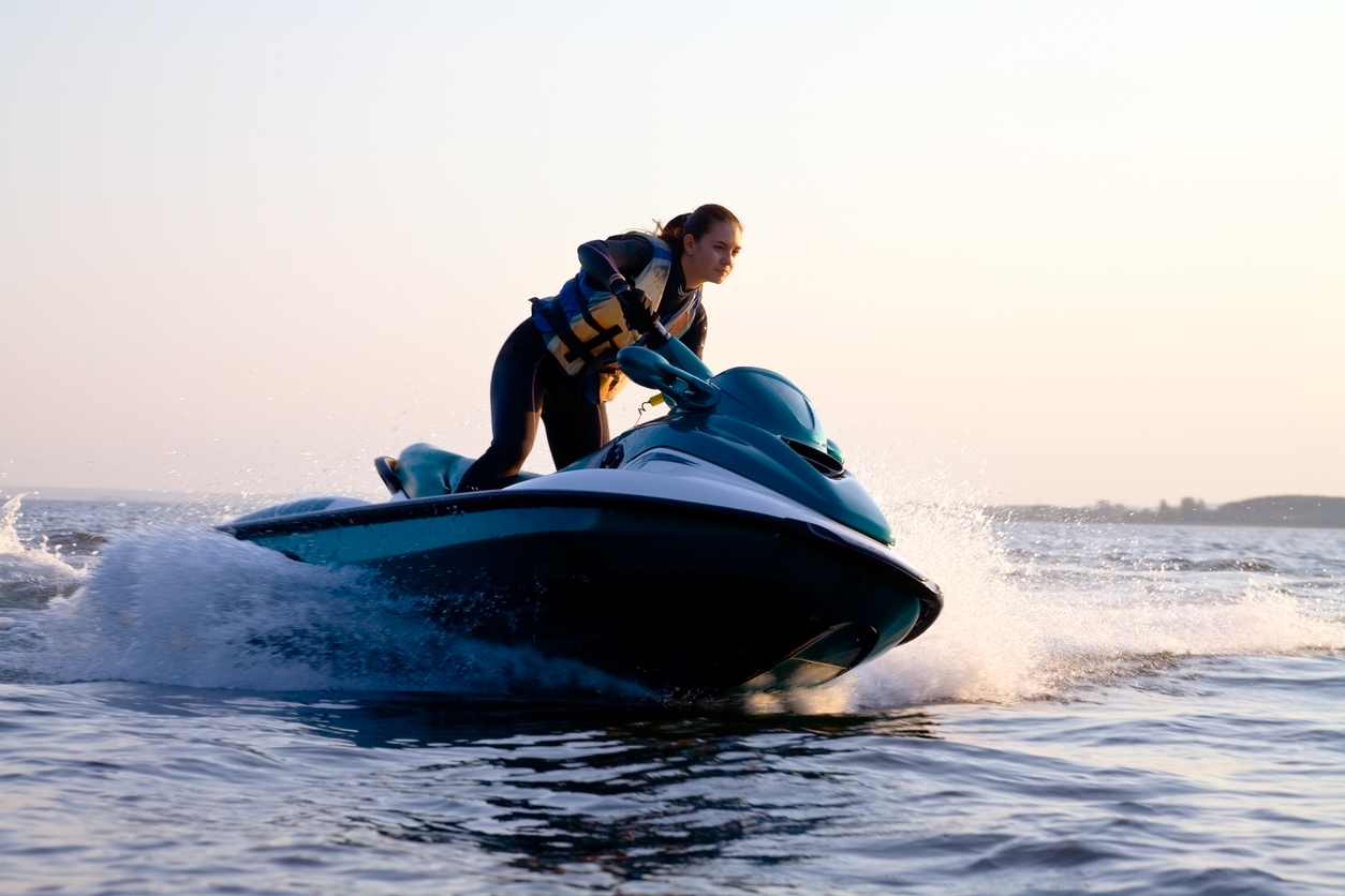 Woman on a PWC needs to know about boat and watercraft insurance 101