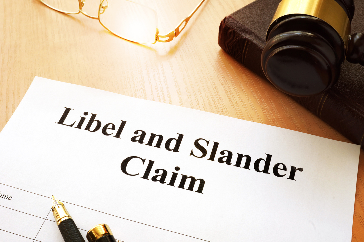 A paper labeled libel and slander claim is part of advertising injuries